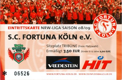 ticket fortuna koln